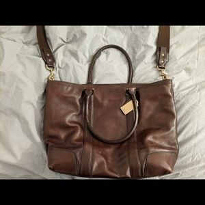 Coach Bleeker Legacy Leather Business Tote
